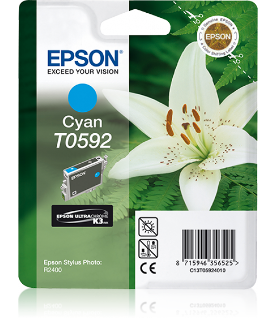 T059 Stylus R2400 Cyan Ink Cartridge