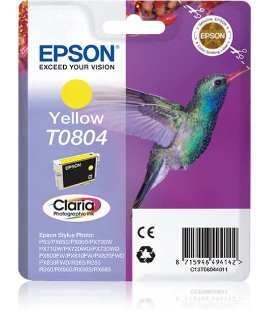 T0804 Yellow Ink Cartridge